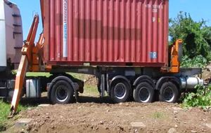 Pose de containers